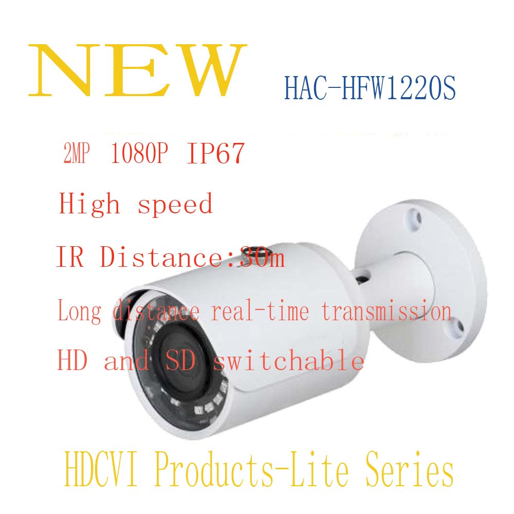 ФОТО DAHUA Security Camera CCTV 2MP 1080P Waterproof Small IR Bullet Camera with Fixed Lens IP67 Without Logo HAC-HFW1220S