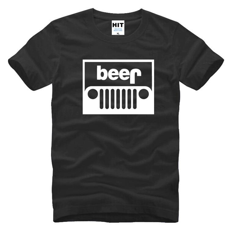 1526ccc9bc7c7 Jeep cerveza parodia creativa mens hombre t-shirt 2016 manga corta o  Masajeadores de cuello algodón casual Camiseta Tee camisetas masculina
