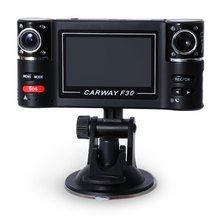 Dual Lens DVR Camcorder Camera F30 Dual Lens 2.7 inch Auto Camcorder Car DVR Camera HD Windshield Driving Recorder hot sale
