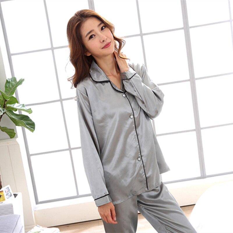 Plus Size Autumn 2018 Fashion Women Pajamas Turn-down Collar Sleepwear 2 Two Piece Set Shirt+pants Cartoon Casual Pajama Sets