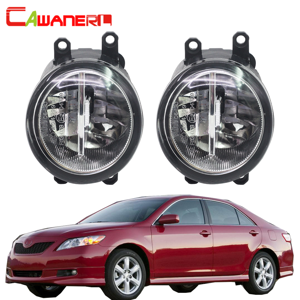 Cawanerl For Toyota Camry 2007-2012 H11 Car Accessories LED Fog Light Bulb 4000LM White 6000K DRL Daytime Running Lamp 12V cawanerl for toyota highlander 2008 2012 car styling left right fog light led drl daytime running lamp white 12v 2 pieces