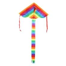 Colorful Rainbow Kite Long Tail Nylon Outdoor Kites Flying Toys For Children Kids Stunt Kite Surf