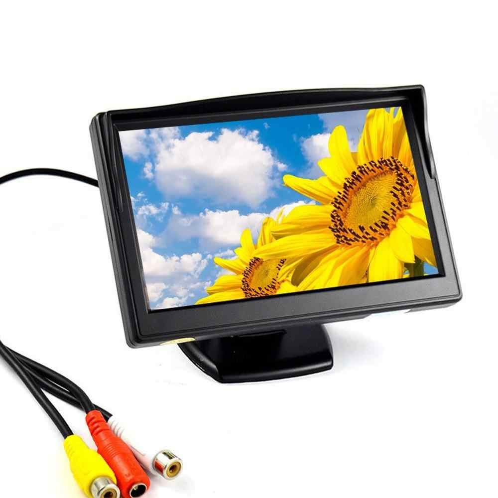 5 дюймов цифровой HD TFT ЖК-дисплей Экран дисплея Мониторы заднего вида для парковки поддерживает DVD VCD заднего вида Камера Multi- язык