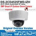 2016 Hik IP Camera 2MP POE DS-2CD4525FWD-IZH IP Camera Outdoor 2MP Smart IP Outdoor Dome Camera P2P Smart IR,Alarm O/I