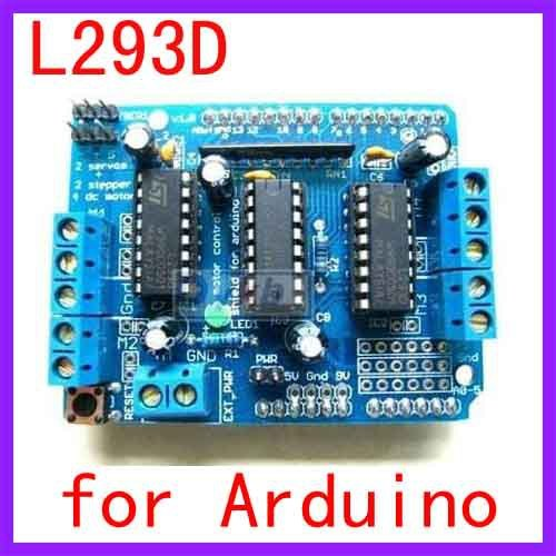 Motor Drive Shield L293D for Arduino Duemilanove Mega / UNO Free Shipping Dropshipping