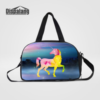 Dispalang Fantastic Unicorn Printing Women Luggage Duffle Bags Multifunctional Travel Bag With Shoes Unit Galaxy Weekender Bags