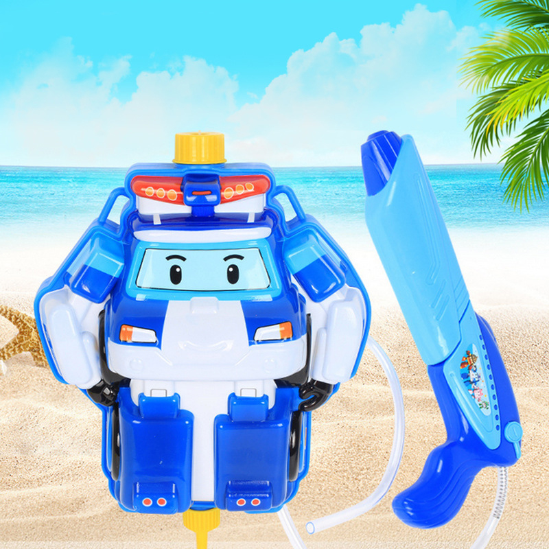 Big Water Gun Kids Toys Super Soaker Firing Robotic Poli Water Gun Backpack Outdoor Fun Sports Game Shooting Toys For Children