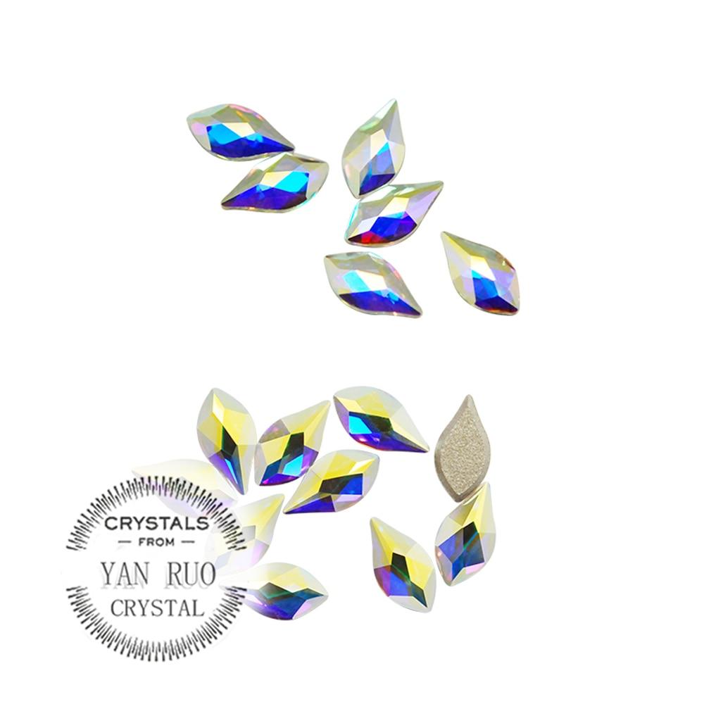 YANRUO 72pcs 5X8mm Crystal AB 3D Kristal Dırnaq sənəti Rhinestone - Dırnaq sənəti - Fotoqrafiya 3