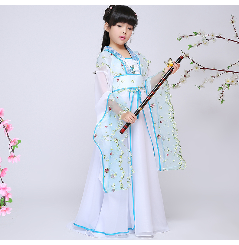 Chinese Folk Dance for Children Ancient Chinese Costume for Kids Oriental Dance Costumes Dance Costumes for Kids