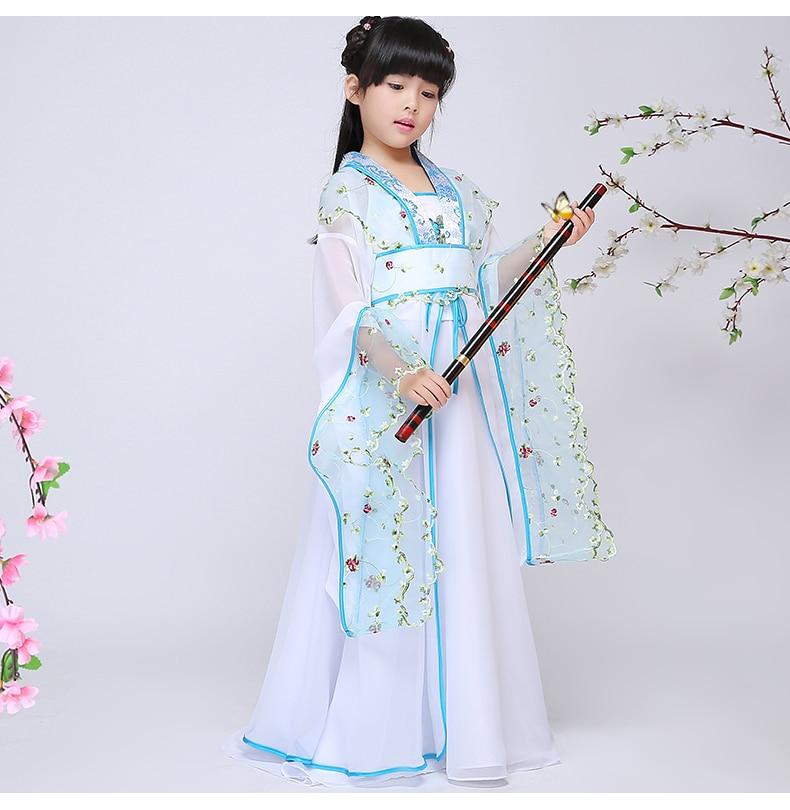 Kitajski narodni ples za otroke Starodavni kitajski kostum za otroke - Odrska in plesna oblačila