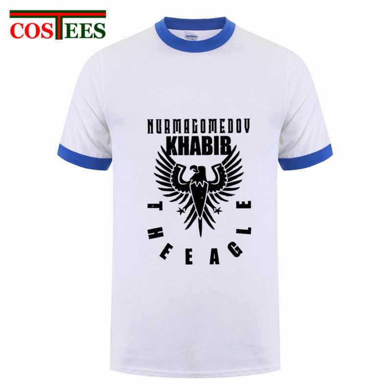 Golden Edition Große Kämpfer Khabib Nurmagomedov T shirts männer MMA Russische Die Adler Emblem T-shirt UFC Streetwear marke kleidung