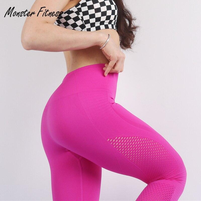 Monster 2018 verano mujeres Yoga Pantalones deportivos Leggings alta cintura Push Up gimnasio entrenamiento Fitness Yoga Leggings para las mujeres