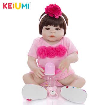 23 Inch Baby Reborn Full Silicone 57 cm Fashion Newborn Baby Doll Lifelike Simulation Doll Toy For Children\'s Day Gift Can Bathe - DISCOUNT ITEM  51 OFF Toys & Hobbies