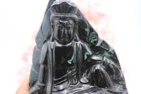 High quality natural quartz smoky quartz carved Chinese buddhist guanyin infinite energy