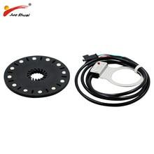 E-pedał rowerowy 12 magnesów rower elektryczny PAS asystent systemu czujnik prędkości czujnik czarny kolor łatwy w instalacji dla darmowa wysyłka