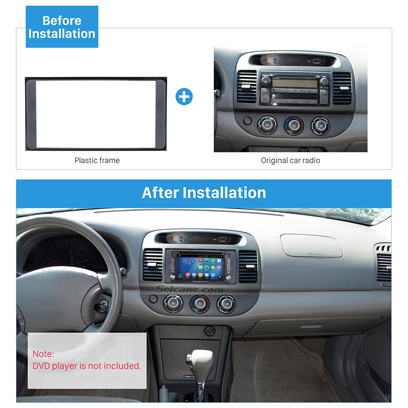 Seicane Double Din Car Radio Fascia Frame Panel Installation Kit For 2006 Toyota Camry Vios Corolla Wish Altis 4500 Cd Trim In Fascias From Automobiles