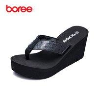 Boree Summer New Women S Sandals Fashion Flip Flops Casual Shoes Soft Patent Leather Platform Thick