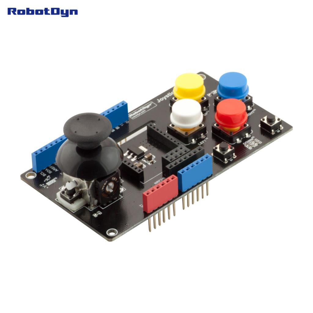 Joystick Shield With Wireless Adapter (xBee, APC200, NRF24L) For Arduino Uno, Mega (assembled)