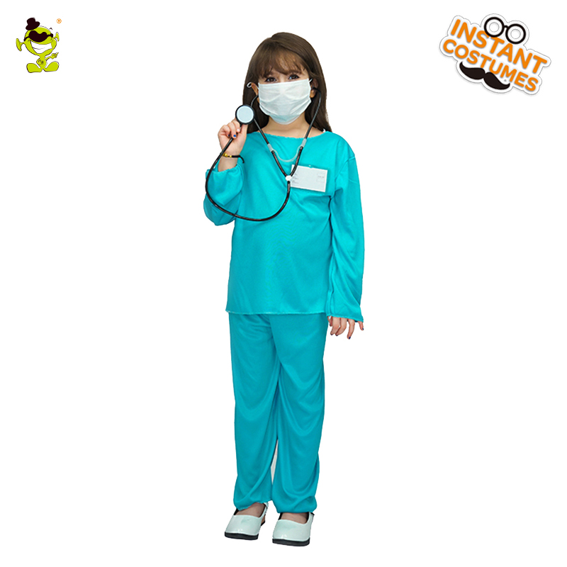 2018 New Design Kids Girls E.R.Doctor Costumes Pretty Cosplay Halloween Outfits Fancy Dress Costumes For Children Girls