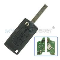 Remtekey Flip Remote Key 3 Button Car Key For Citroen Peugeot Key CE0523 Middle Button Light