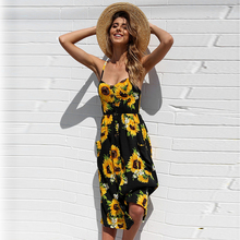FREE SHIPPING 2018 Beach Dress Printed JKP950