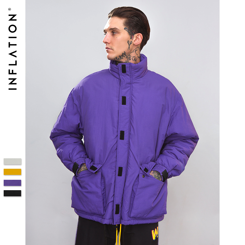 INFLATION 2018 Winter Jackets Coat Fashion High Quality Cotton Padded Thick Warm Soft Brand Clothing Male Parkas NEW 8761W