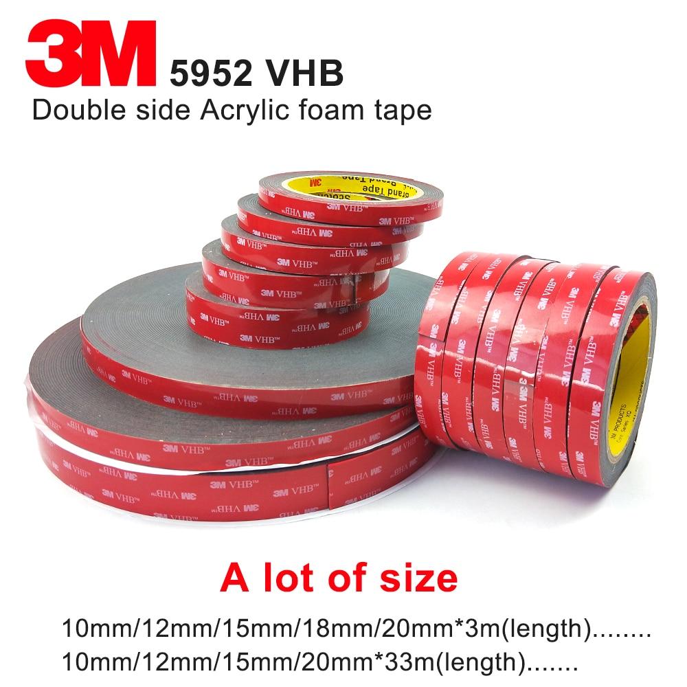 3 м 5952 VHB пенопластовые ленты, высокая липкая пенопластовая лента 3 м черная акриловая пенопластовая лента Толщина 1,1 мм, мы можем предложить ...