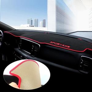Image 1 - For Kia Sportage 2016 2017 2018 2019 Car Dashboard Avoid Light Pad Instrument Platform Desk Cover Mat Carpets Trim Accessories