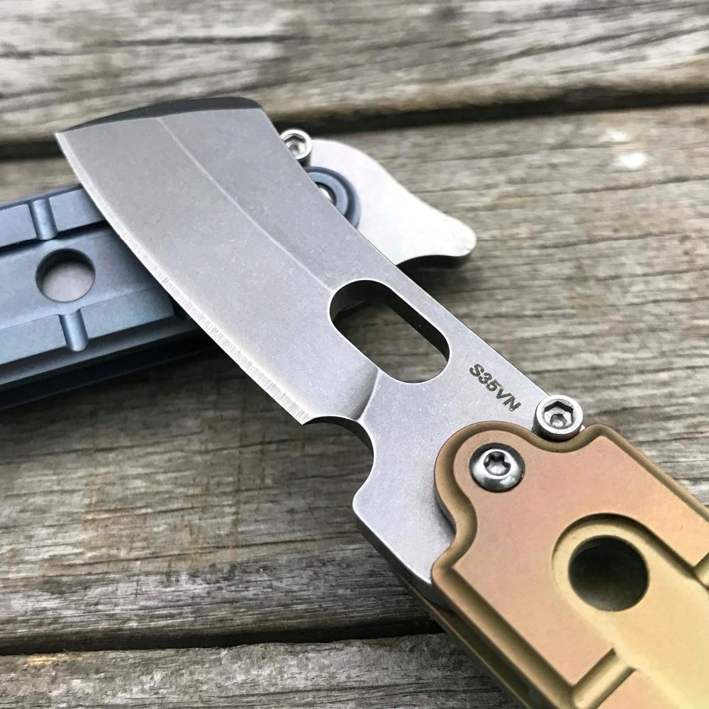 LDT Bean Couteaux Pliants Mini Butcher S35VN Lame Titanium Poignée - Outillage à main - Photo 5