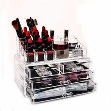 Qubabobo Макияж Организатор акриловые коробка для хранения Органайзер для косметики кисть косметическая коробка ящик организатор Макияж инструменты бункеров