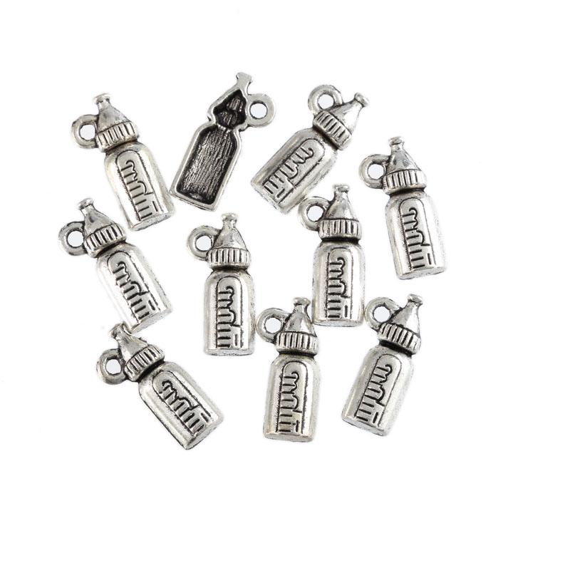 Tibetan Silver Charms Baby Bib Charms Baby Shower Decor Favors New Mom DIY Jewelry Making Supply. 5 Spit Happens Baby Bib Charms