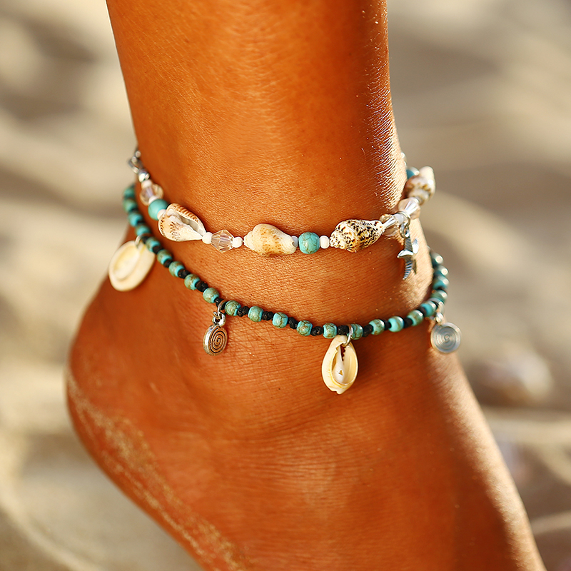 If You Special Lotus Meditation Charm Chain Foot Anklet Vintage Beach Silver Color Pendant Anklets For Women Jewelry by If You