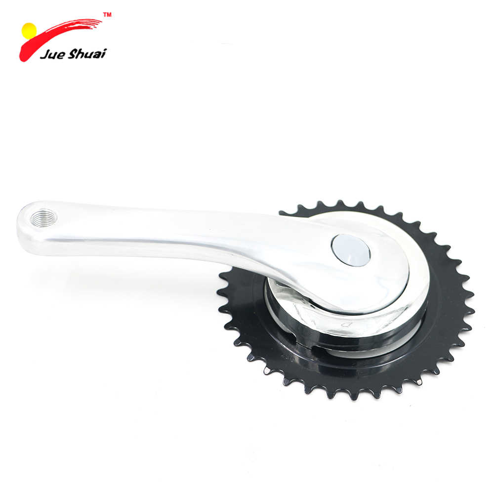 JS Aluminium Alloy 36T BMX Folding Bike Crankset Ultralight Road Pedaleira Bicycle Parts Ciclismo Acessorios Crank Set