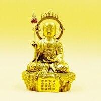 Ksitigarbha Buddha statue Ksitigarbha Bodhisattva figure copper King of the Inferno high about 17cm