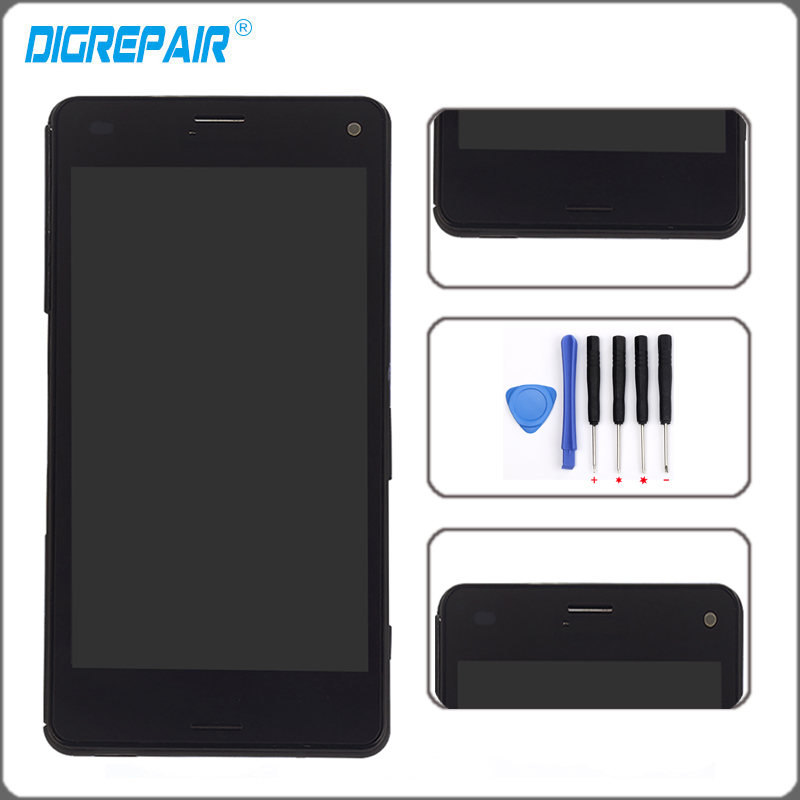 "4.3"" Black For Sony Xperia Z3 Mini Compact D5803 D5833 LCD Display Monitor Panel Touch Screen Digitizer with Frame Assembly Part"