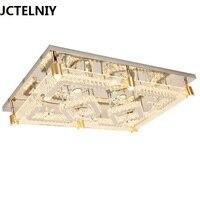 2017 современные Прямоугольник K9 кристалл светодиодный потолочный светильник квадратный светильник для гостиной спальня L1200mm w800 мм yx4011
