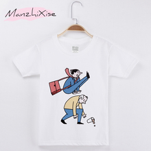купить 2019 Children Clothing Kids T-shirt Interesting Funny Parkour Top Cotton Short T Shirts For Boy Girl Tops Baby Tee Child Shirt дешево