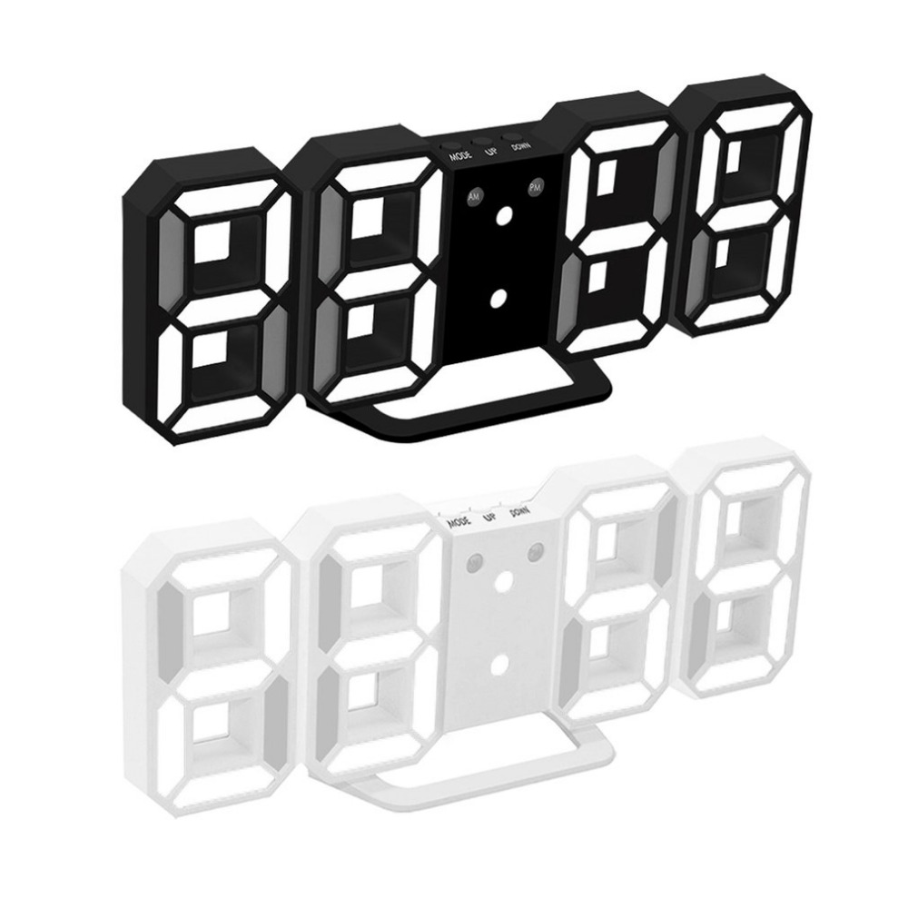 Large Size Practical LED Display Digital Clock Modern Design Home Office Electronic Desk Clock Wall Clock