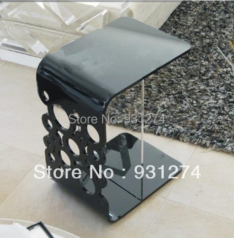 Negro acrílico mesa lateral/FINAL mesa/cama/plexiglás mesa/sala de ...