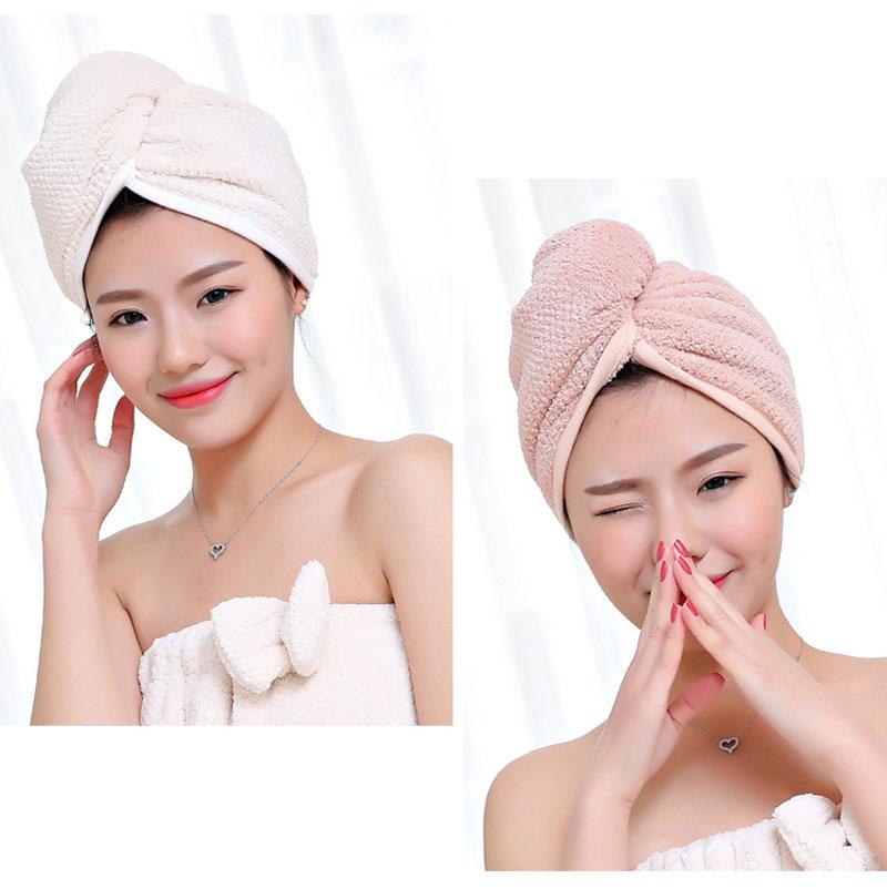 GIANTEX Japanese Polyester Cotton Women Bathroom Super Absorbent Quick-drying Bath Towel Hair Dry Cap Salon Towel 23x60cm U1031 11