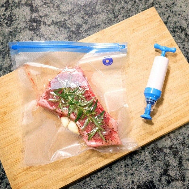 18 шт. кухонная пищевая вакуумная сумка сумки для хранения для вакуумного упаковщика продуктов питания свежего длительного хранения 22*21 см/26*28 см/26*34 см