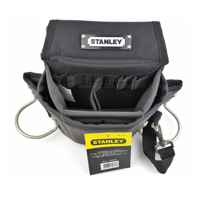 Stanley carpenters tool waist bag storage hammer holder bags work pocket gadget utility pouch with adjustable belt electricians 2