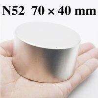 HYSAMTA 1pcs N52 Neodymium magnet 70x40 mm gallium metal hot super strong round magnets 70*40mm powerful permanent magnets