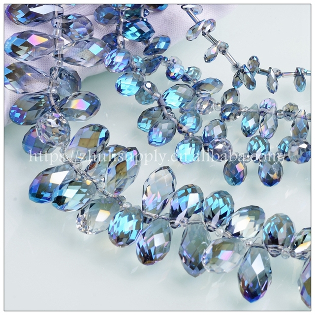 JuleeCrystal Teardrop Beads Colorful All Size Available Crystal Glass Beads For Jewelry Making 1