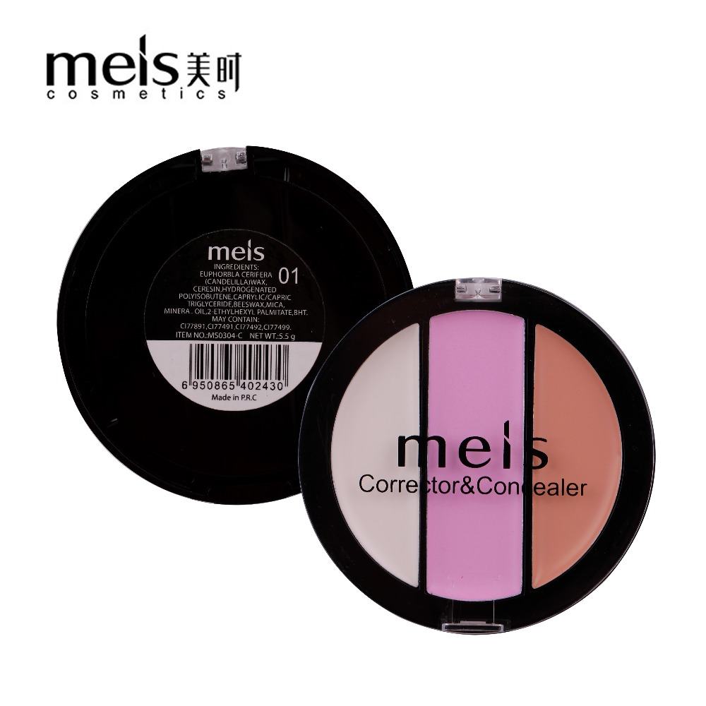 MEIS Merk Make Cosmetics Professionele Make-up 3 Kleuren Conealer Contour Paletter Contouring Make-up Gezicht Zachte glimlach MS0304-C