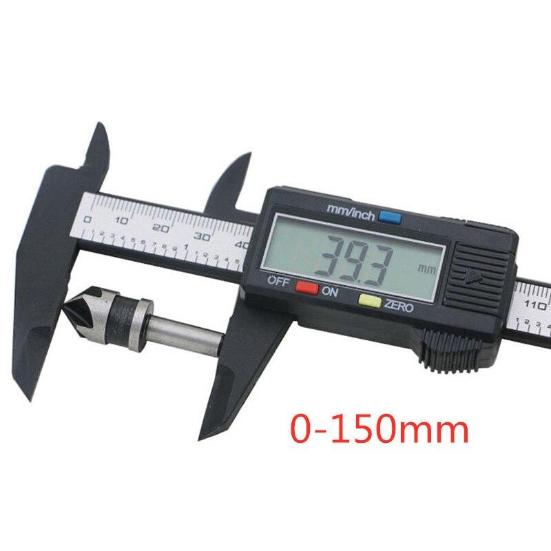 150mm Electronic Digital Pachometer Caliber Vernier Mini Caliper Gauge Measuring Micrometer LCD Tool Ruler