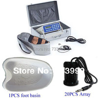 Detox foot spa ion cleanser detox machine Far Infrared ray Foot Spa+1 PCS FOOT BASIN+20 PCS ION ARRAYS free shipping