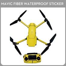 Mavic Pro Carbon Fiber Body Skin Wrap Waterproof Fuselage Sticker with Controller Skin Sticker for DJI Mavic Pro Drone