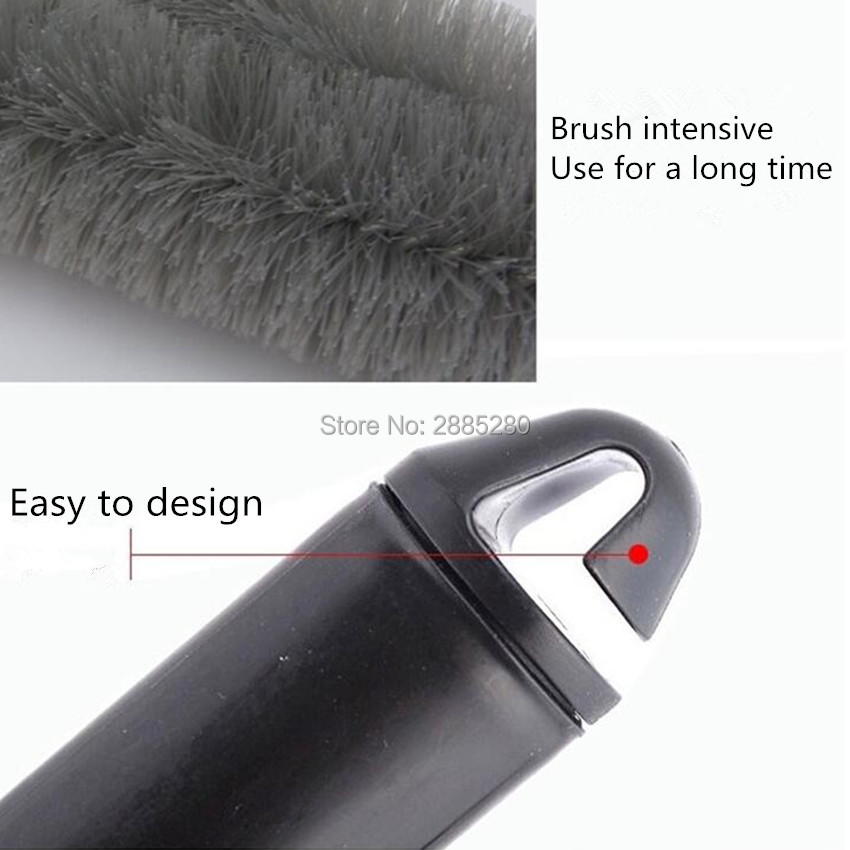 Car Tyre Cleaning Brush Scrub Wheel Hub Brush for chevrolet skoda rapid renault duster megane 2 mercedes w204 peugeot 3008 suzuk in Car Tax Disc Holders from Automobiles Motorcycles