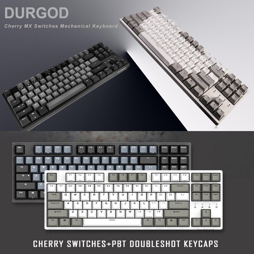 DURGOD 87 Key Mechanical Keyboard Cherry MX Switches NKRO Anti ghosting Gaming Keyboard for Gamer Typist